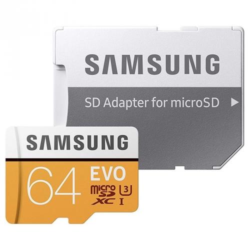Samsung 64GB UHS-I U3 (100R/60W) + adaptér