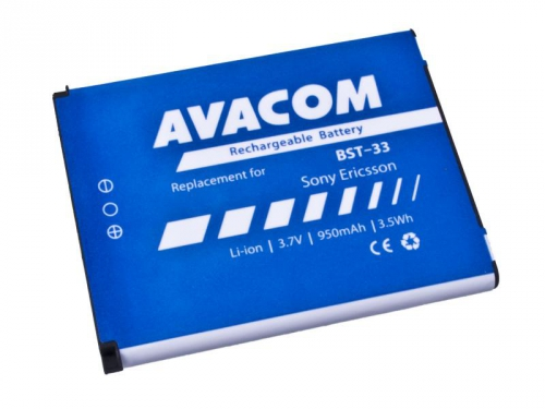 Avacom pro Sony Ericsson K550i, K800, W900i Li-Ion 3,7V 950mAh (náhrada BST-33)