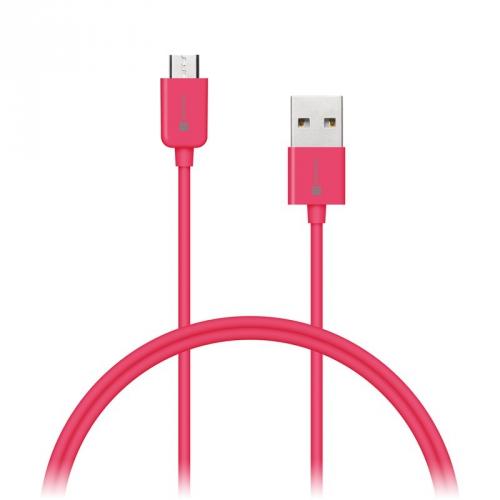 Kabel Connect IT Wirez USB/micro USB, 1m růžový