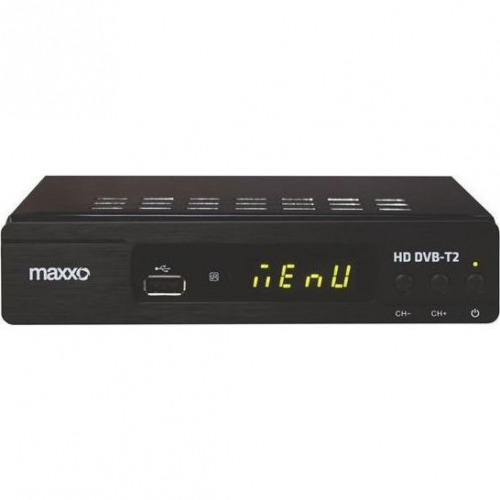Set-top box Maxxo T2 HEVC/H.265 + wifi adaptér černý + dárek