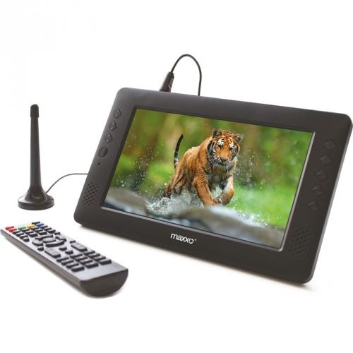 Televize Maxxo mini TV HD – T2 HEVC/H.265 černý + dárek