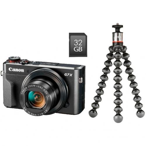 Digitální fotoaparát Canon PowerShot G7X Mark II Vlogger Kit černý