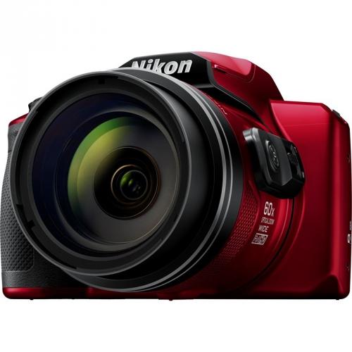 Digitální fotoaparát Nikon Coolpix B600 + brašna červený