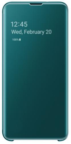 Pouzdro na mobil flipové Samsung pro Galaxy S10e (EF-ZG970CGEGWW) zelené
