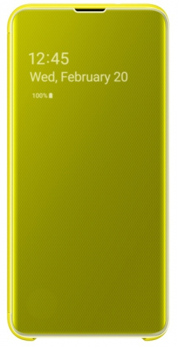 Pouzdro na mobil flipové Samsung pro Galaxy S10e (EF-ZG970CYEGWW) žluté