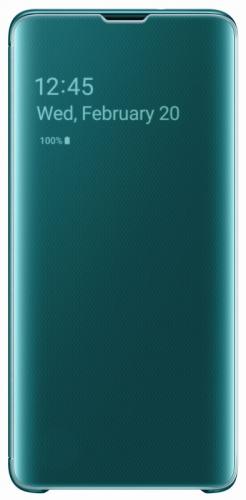 Pouzdro na mobil flipové Samsung pro Galaxy S10 (EF-ZG973CGEGWW) zelené