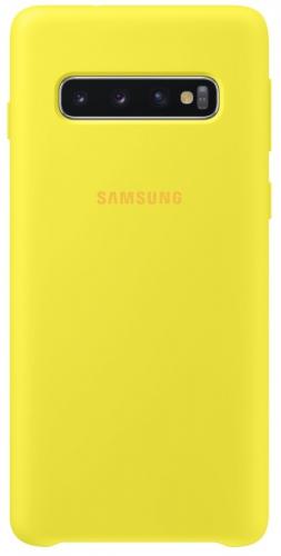 Kryt na mobil Samsung pro Galaxy S10 (EF-PG973TYEGWW) žlutý