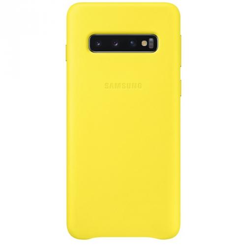 Kryt na mobil Samsung pro Galaxy S10 (EF-VG973LYEGWW) žlutý