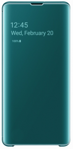 Pouzdro na mobil flipové Samsung pro Galaxy S10+ (EF-ZG975CGEGWW) zelené