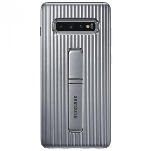 Kryt na mobil Samsung pro Galaxy S10+ (EF-RG975CSEGWW) stříbrný
