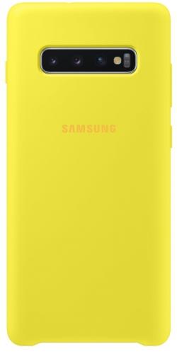 Kryt na mobil Samsung pro Galaxy S10+ (EF-PG975TYEGWW) žlutý