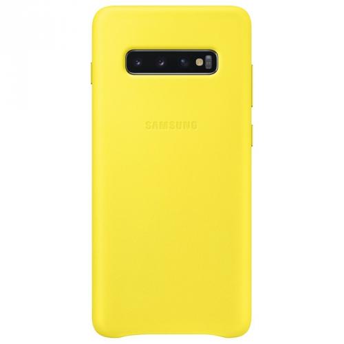 Kryt na mobil Samsung pro Galaxy S10+ (EF-VG975LYEGWW) žlutý