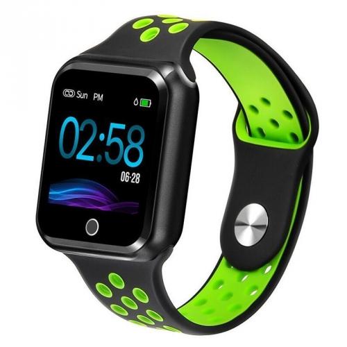 Chytré hodinky IMMAX SW10 černé/zelené