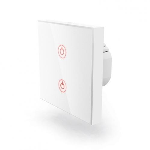 Hama WiFi, dotykový, vestavný, dvojitý - bílý