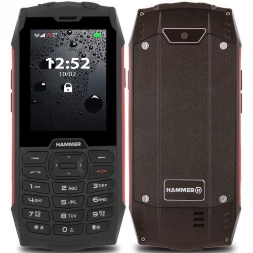 Mobilní telefon myPhone Hammer 4 Dual SIM červený