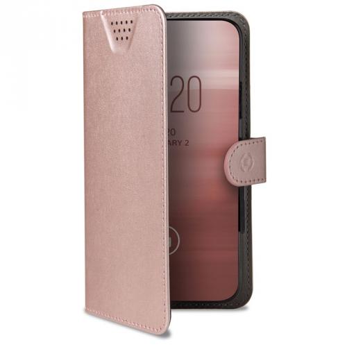"Pouzdro na mobil flipové Celly Wally One, 3XL pro 5,5"" - 6,0"" růžové"