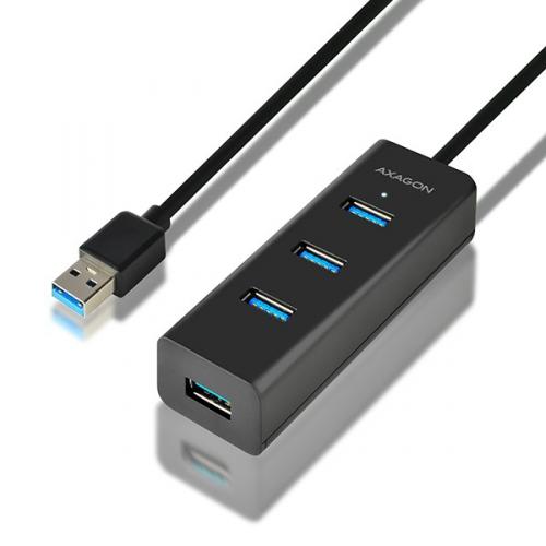 USB Hub Axagon USB / 4x USB 3.0, 1,2 m černý