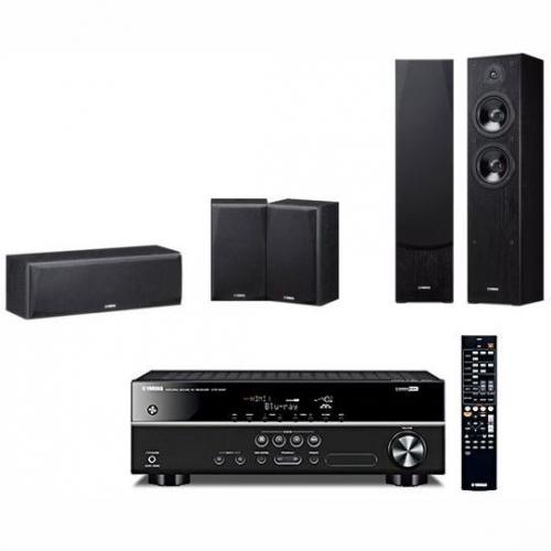 Set (Reproduktory Yamaha NS-F51, 2 ks) + (AV Receiver Yamaha HTR-2071) + (Reproduktory Yamaha NS-P51, 1 ks centrální a 2 ks efektové)