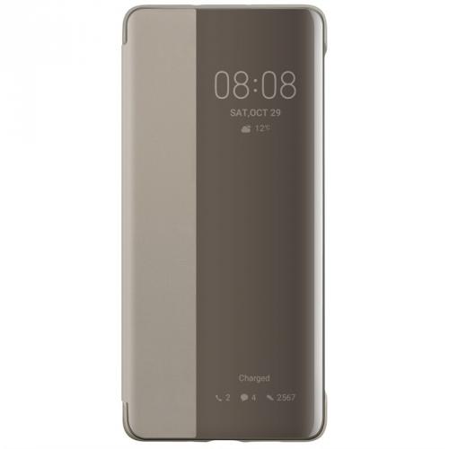 Pouzdro na mobil flipové Huawei Smart View pro P30 Pro khaki