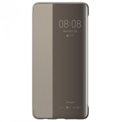 Pouzdro na mobil flipové Huawei Smart View pro P30 khaki