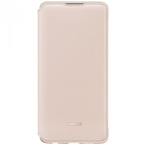 Pouzdro na mobil flipové Huawei Wallet Cover pro P30 růžové