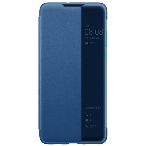 Pouzdro na mobil flipové Huawei View Cover pro P30 Lite modré