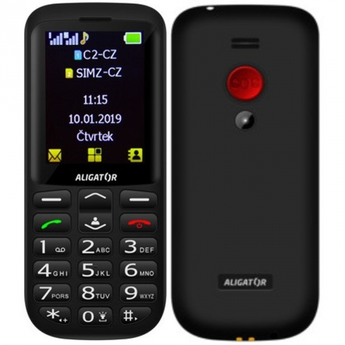 Mobilní telefon Aligator A700 Senior (A700B) černý