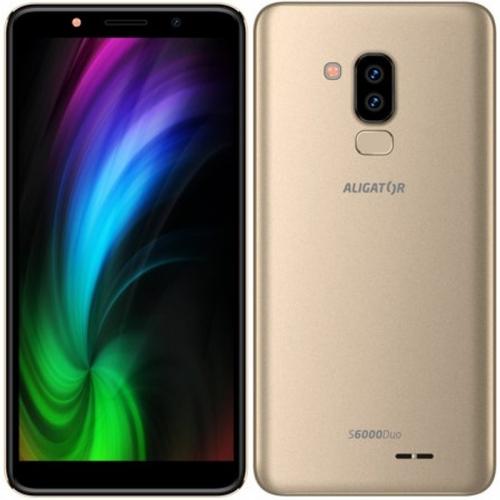 Mobilní telefon Aligator S6000 (AS6000GD) zlatý