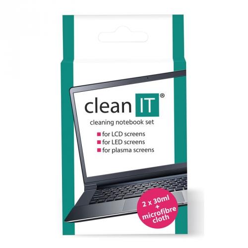 Clean IT roztok na notebooky s utěrkou, 2x30ml