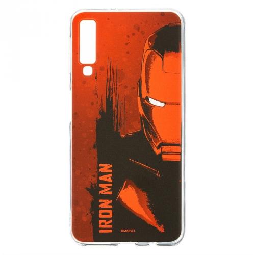 Kryt na mobil Marvel Iron Man pro Samsung Galaxy A7 2018 červený