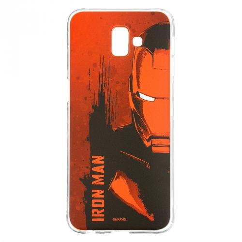 Kryt na mobil Marvel Iron Man pro Samsung Galaxy J6+ červený