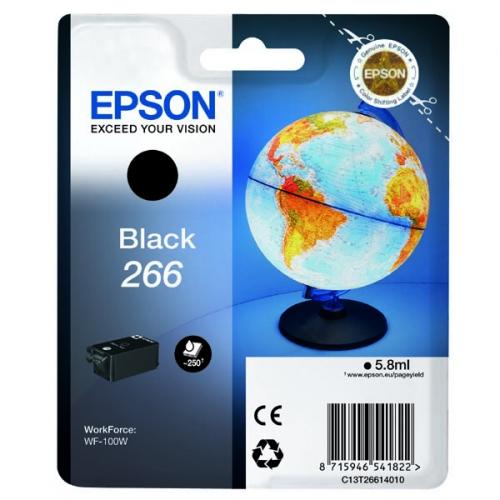Inkoustová náplň Epson 266, 250 stran (C13T26614010) černá
