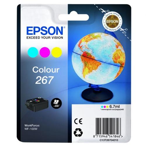 Inkoustová náplň Epson 267, 200 stran, CMY (C13T26704010)
