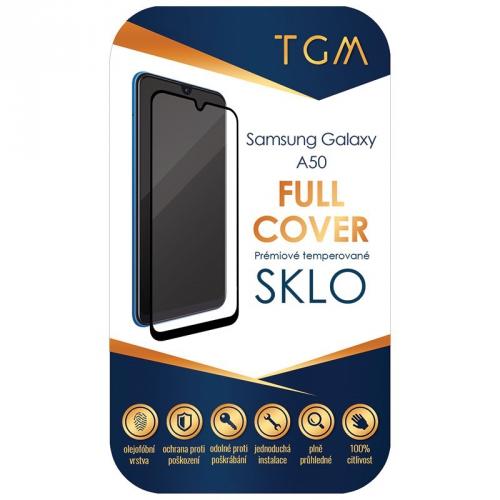 Ochranné sklo TGM Full Cover na Samsung Galaxy A50 černé