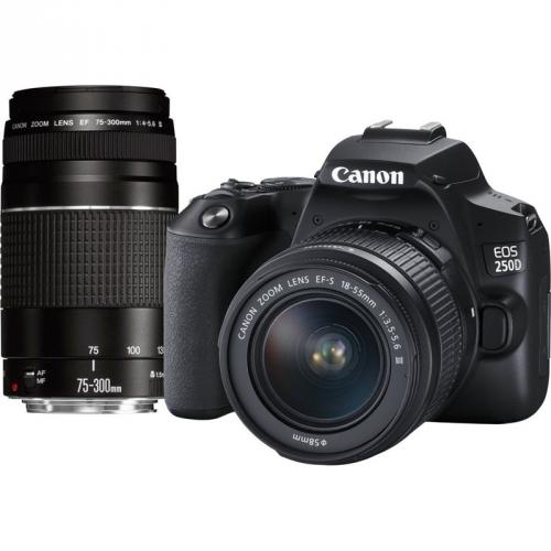 Canon 250D + 18-55 DC + 75-300 DC + dárek