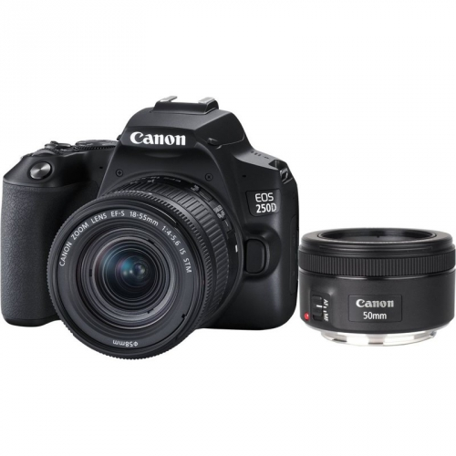 Canon 250D + 18-55 IS STM + 50f/1.8 STM