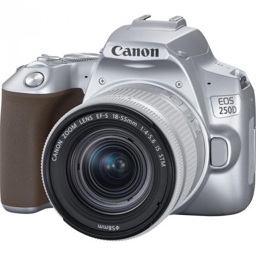 Digitální fotoaparát Canon EOS 250D + 18-55 IS STM stříbrný + dárek