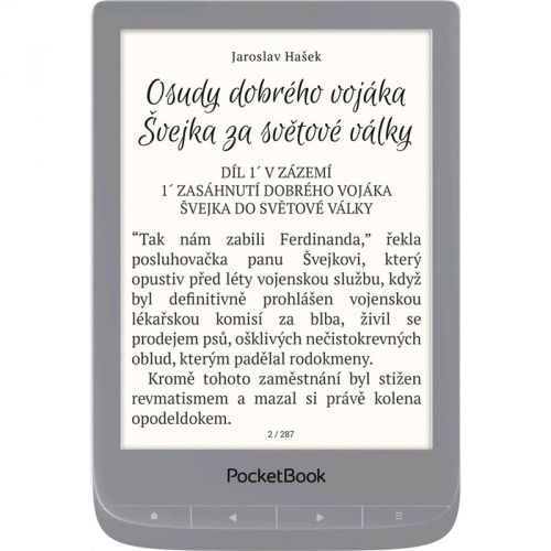 Čtečka e-knih Pocket Book 627 Touch Lux 4 stříbrná