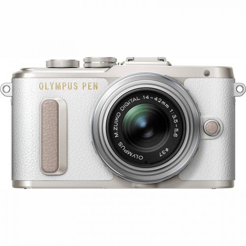 Digitální fotoaparát Olympus E-PL8 + 14-42 Kit stříbrný/bílý