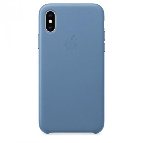 Kryt na mobil Apple Leather Case pro iPhone Xs - chrpově modrý
