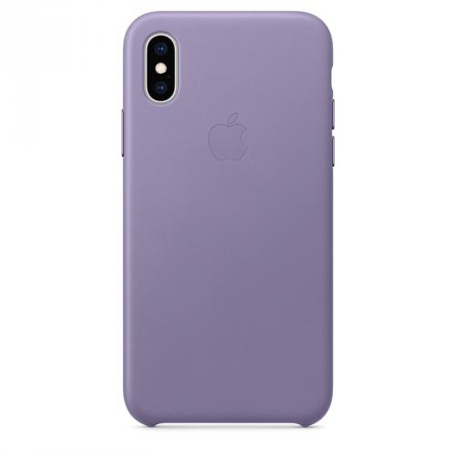 Kryt na mobil Apple Leather Case pro iPhone Xs - šeříkově modrý