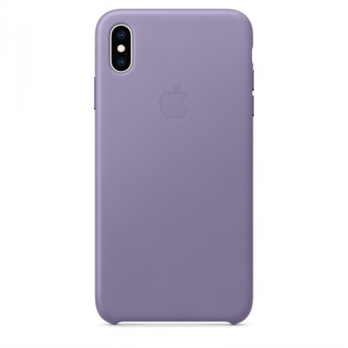 Kryt na mobil Apple Leather Case pro iPhone Xs Max - šeříkově modrý
