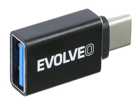 Redukce Evolveo USB/USB-C černá