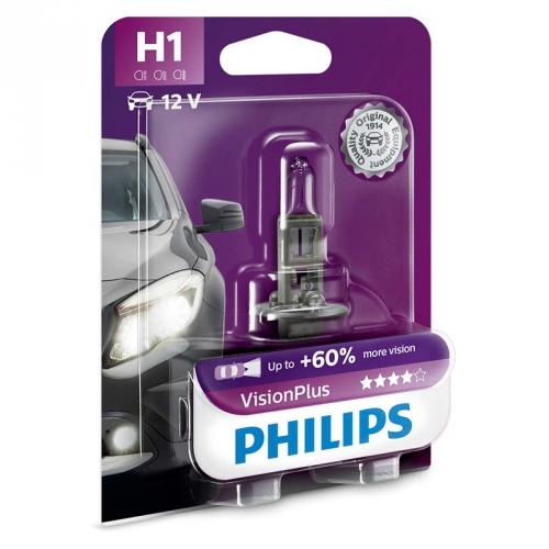 Autožárovka Philips VisionPlus H1, 1ks (12258VPB1)