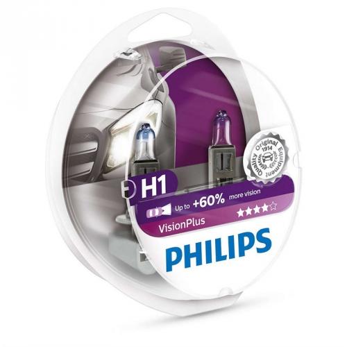 Autožárovka Philips VisionPlus H1, 2ks (12258VPS2)