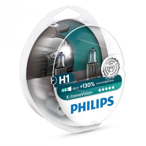 Autožárovka Philips X-tremeVision H1, 2ks (12258XV+S2)