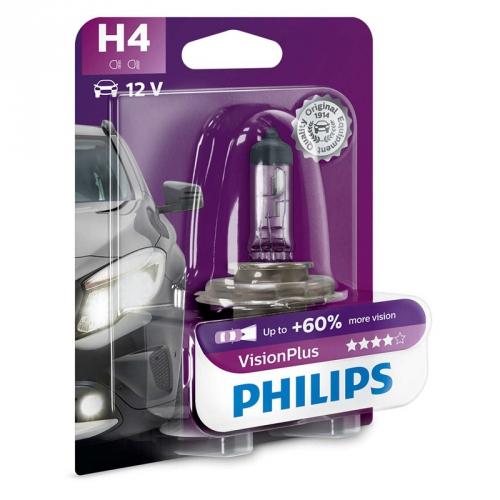 Autožárovka Philips VisionPlus H4, 1ks (12342VPB1)