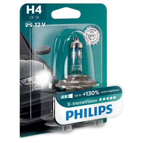 Autožárovka Philips X-tremeVision H4, 1ks (12342XV+B1)