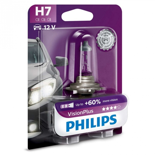 Autožárovka Philips VisionPlus H7, 1ks (12972VPB1)
