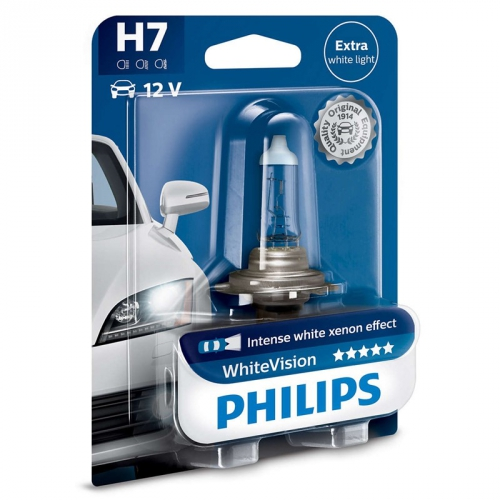 Autožárovka Philips WhiteVision H7, 1ks (12972WHVB1)
